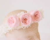 Blushing Rose Flower Crown
