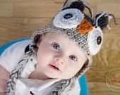 Crochet Owl Hat, Newborn Photo Prop, Crochet Photo Prop, Owl Hat Baby, Newborn Owl Hat, Boy Owl Hat, Girl Owl Hat, Baby Owl Hat