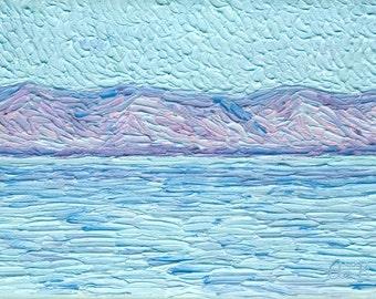 The Sea, 5 x 7 in., giclee print
