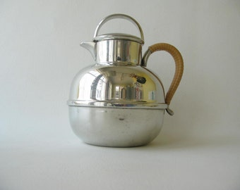 Vintage pewter Coffee Pot, Tea Pot, server, Silver