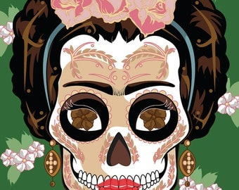 Frida Kahlo Sugar Skull Print 11x14 print