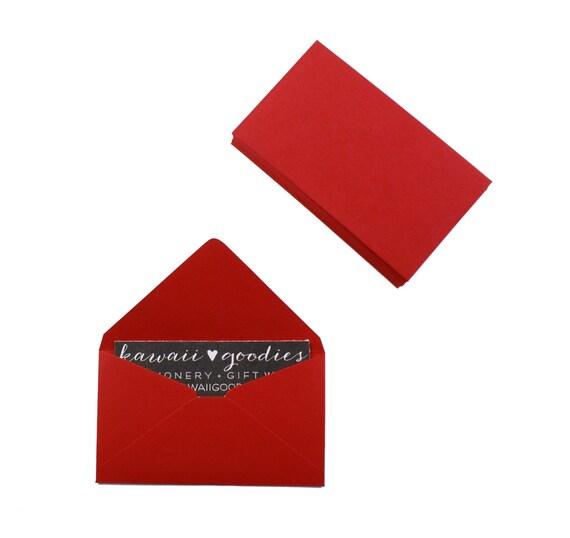 Business card envelopes 25 dark red envelopes 2 by