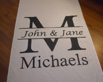 25 ft Cotton Aisle Runner- STANDARD Design Package, Hand Painted on Cotton Isle Runner