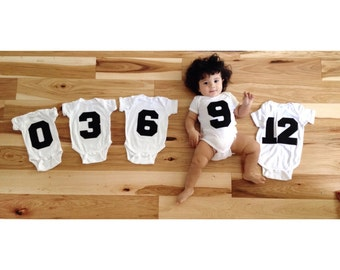 Monthly Photo Prop. Sporty First Year Baby Gift. Baby Bodysuit, Altheltic Jersey