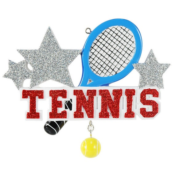Personalized Tennis Sports Christmas Ornaments Tennis Ball