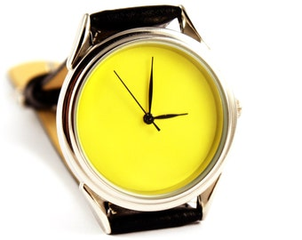 Yellow watch - ascetic watch - unisex watches