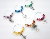 Music Wine Charms, Stemware, Cocktail Charms