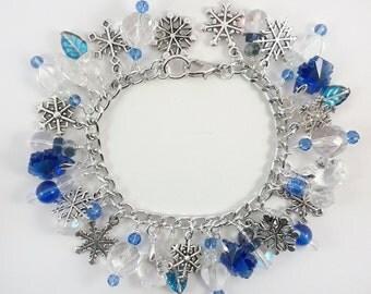 Let It Snow Bracelet - Light Blue