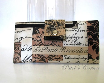 SALE - Handmade women wallet Memories of Europe the Old World - Italia - Ready to ship - Id clear pocket