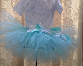 Princess Tutu Outfit, with Name, Princess Newborn, Princess Dress, Princess Skirt