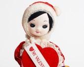 Vintage 60s Valentines Day Pose Doll