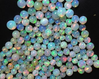 VERY VERY Rare,Welo Ethiopian Opal Smooth BALLS,4-5mm, Full 8 Inch Strand, Amazing Inside Fire aaa Quality Rare Balls