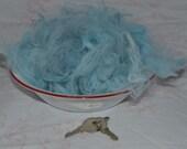 Locally Raised in Michigan German Angora Rabbit Fiber/Wool in Blue Wave - 1/2 ounce