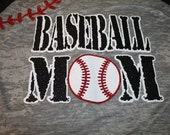 Sparkley Baseball Mom Shirt--Customized in your team colors!!