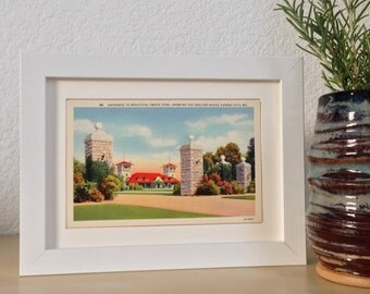 Swope Park, Kansas City, Missouri - framed vintage postcard
