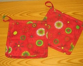 Modern Geometrics Set of 2 Potholders