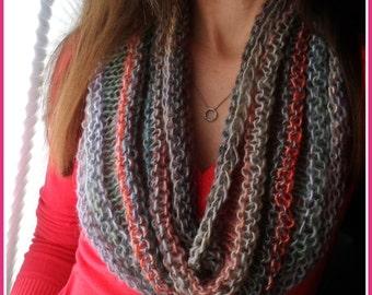 Cowl Knitting PATTERN - Denala Infinity Cowl