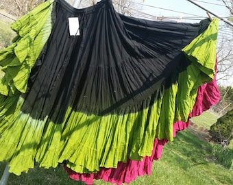 Sour Apples Hand dyed 25yd Skirt