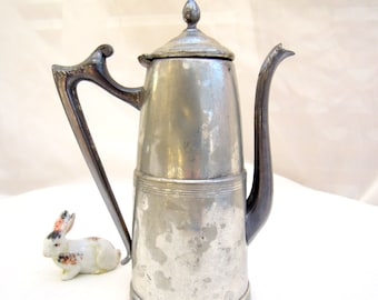 vintage silverplate teapot/coffeepot.patina.wedding gift.bridal.traditional.old.tessiemay