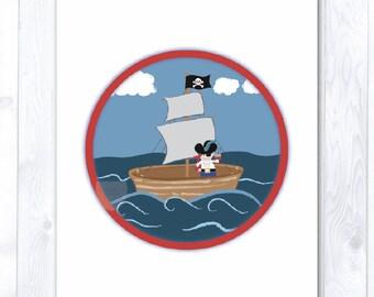 Instant Download: Arrr Pirate Children's Print