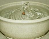 "Cat Fountain -  Pet Water Fountain - Indoor Fountain - 9 Inch Diameter - ""Pearl"""