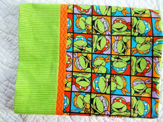Teenage Mutant Ninja Turtles Full size Pillow Case by Sewsisterso