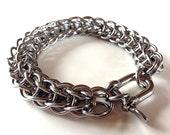 Mens Silver Bracelet, Mens Bracelet, Persian Chain, Stainless Steel Bracelet, Mens Custom Jewelry, Thick Metal Bracelet, Gift For Him