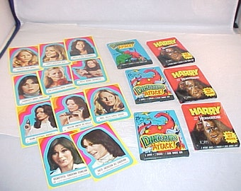Vintage Trading Cards Charlies Angels Harry and the Hendersons Dinosaurs Attack