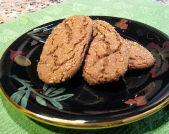 Molasses Ginger Cookies, Very Very Ginger, Cookie Gift Favor, Homemade, Bakery, Organic Molasses, Birthday, Wedding, Baked Goods, 1 DOZEN