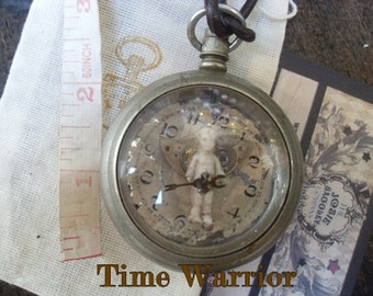 RESERVED**Time Warrior Steampunk Romantica Pendant