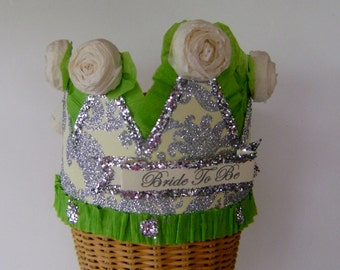 Bride to Be crown, Bride to Be hat, batchelorette crown, hen party