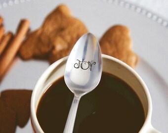JOY - Hand Stamped Spoon