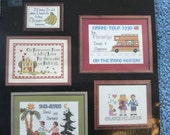 Golden Agers - On the road Again - Our Retirement Home - I Love My Grandchildren - Snowbirds               Counted Cross Stitch - Pattern