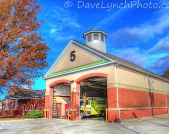 Henrico Fire Station Co 5 Lakeside - Henrico VA -  Art Photography Print by Dave Lynch - Free Shipping on additional purchase