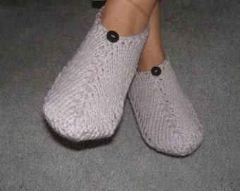 Pair of Grey Skies Pocket Slippers