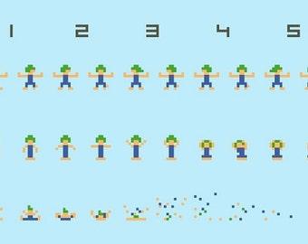Exploding Lemmings cross stitch pattern - Oh no!