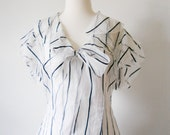 Vintage Ralph Lauren Silk Sheer Blouse Shirt Size 10