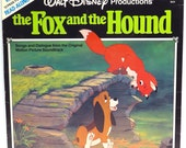 Fox and the Hound Album Cover Purse Custom Made Vintage Record Purse Walt Disney LP Album Handbag Tote