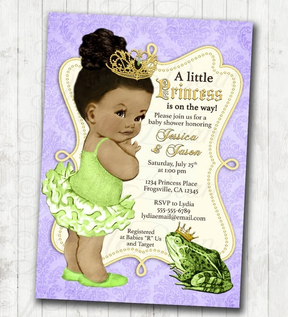 princess and the frog invitation frog prince baby shower or birthday