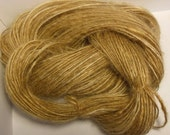 Handspun Mohair Yarn Worsted Weight Yarn Golden Wheat Fields