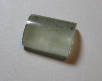 Aquamarine   .....   half barrel slice                10 x 7 x 4 mm ...........            B133