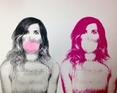 Kristen Wiig screen print