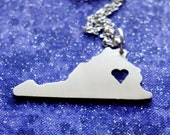 I Heart Virginia - Necklace Pendant or Keychain