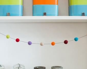 DIY felt ball garland KIT for home decor 20-25mm Make your own garland