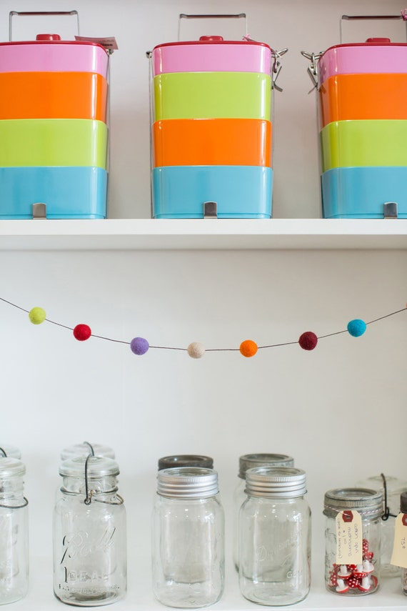 felt ball garland for home decor 20-25mm big felt balls Pick your favorite colors