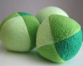 Minty Greens Fleece Squeaky Dog Ball toy small