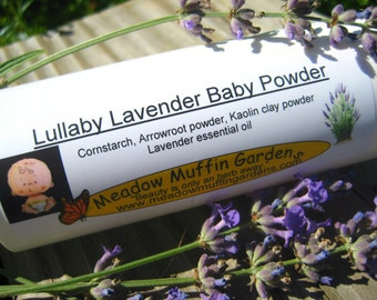 Lavender Baby or Body Powder, Talc free, Not just for babies, Adults, Children, Shaker bottle