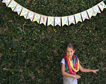 Luau Party Custom Birthday Banner - Hawaiian Hula Hula Collection