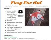 CROCHET PATTERN Foxy Fox Hat