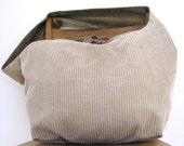 BOHEMIAN BAG - Crossbody Bag - Boho Bag - Oversized Bag - Slouch Bag - Crossbody Purse - Crossbody Hobo Bag - Cream Bag - Hippie Bag